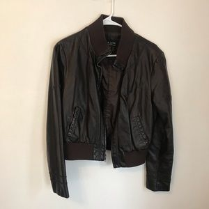Black Rivet Jackets & Coats - Black Rivet Leather Jacket